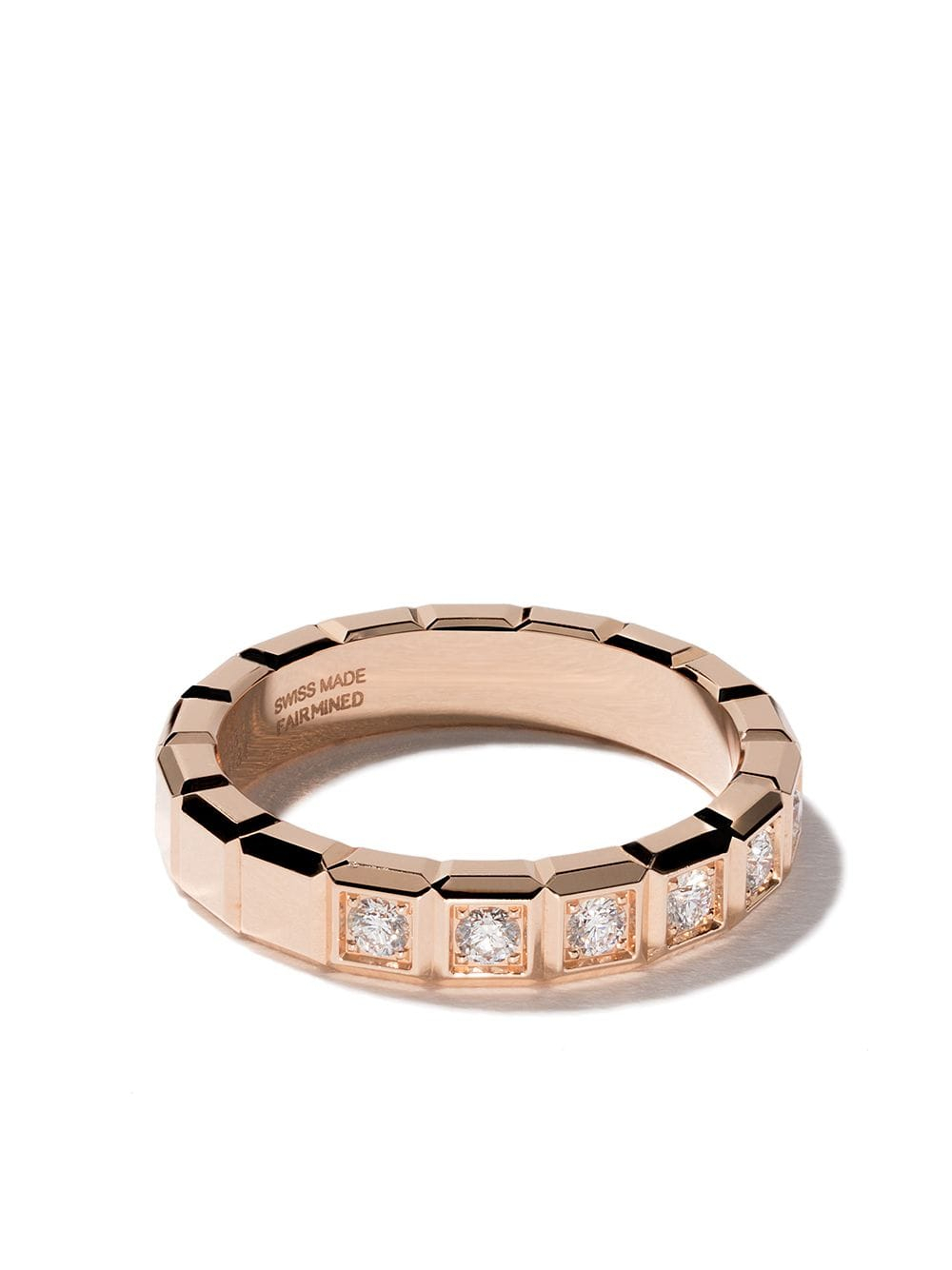 Chopard 18Kt Rose Gold Ice Cube Diamond Ring $3,320 – Buy Aw19 In Latest Sparkling Ice Cube Rings (View 5 of 25)