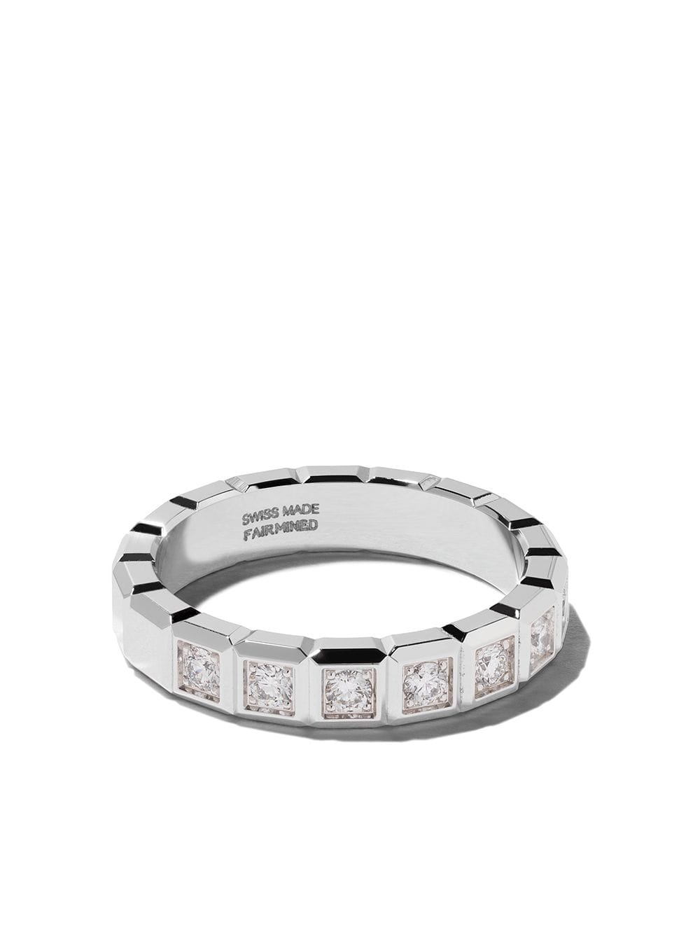 Chopard 18Kt White Gold Ice Cube Diamond Ring $3,320 – Buy Online For Most Up To Date Sparkling Ice Cube Rings (View 6 of 25)