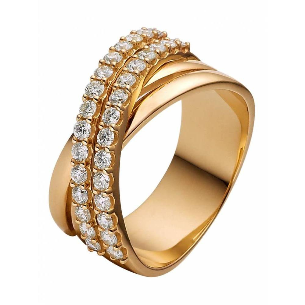 Christ Diamonds Damenring 87016536 Christ Diamonds Gold Throughout Best And Newest Polished & Pavé Bead Open Rings (Gallery 22 of 25)