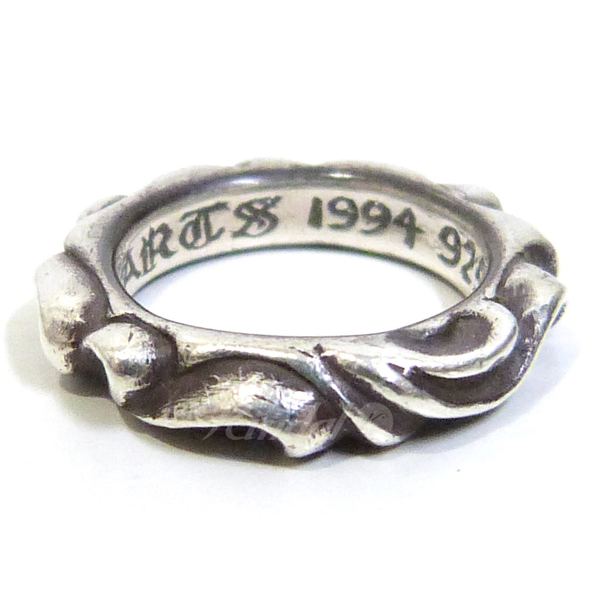 "Chrome Hearts ""scroll Band"" Silver Ring Silver Size: 2 (Chromic Hertz) In Most Up To Date Band Of Hearts Rings (Gallery 23 of 25)"