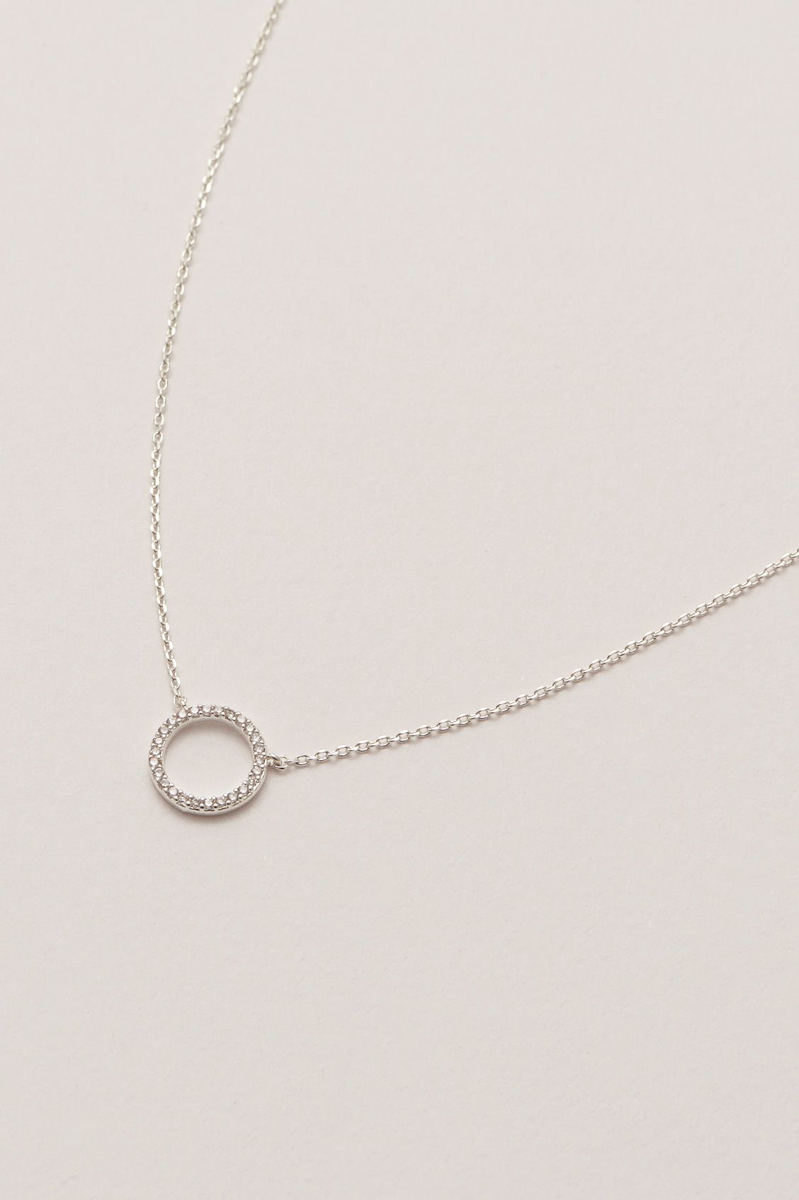 Circle Cz Necklace Intended For Current Circle Of Sparkle Necklaces (View 1 of 25)