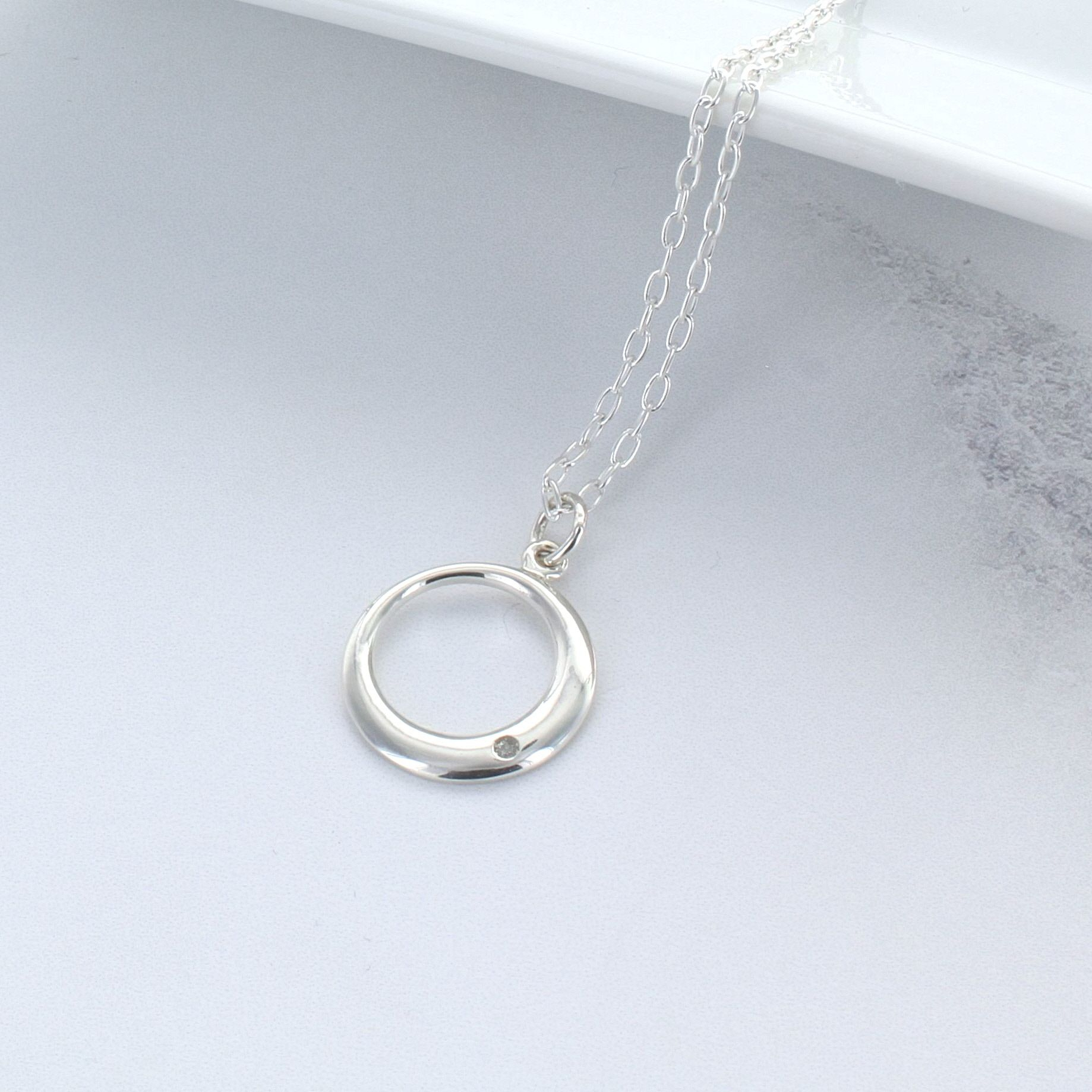Circle Of Life Diamond Necklace Intended For 2020 Classic Cable Chain Necklaces (View 11 of 25)