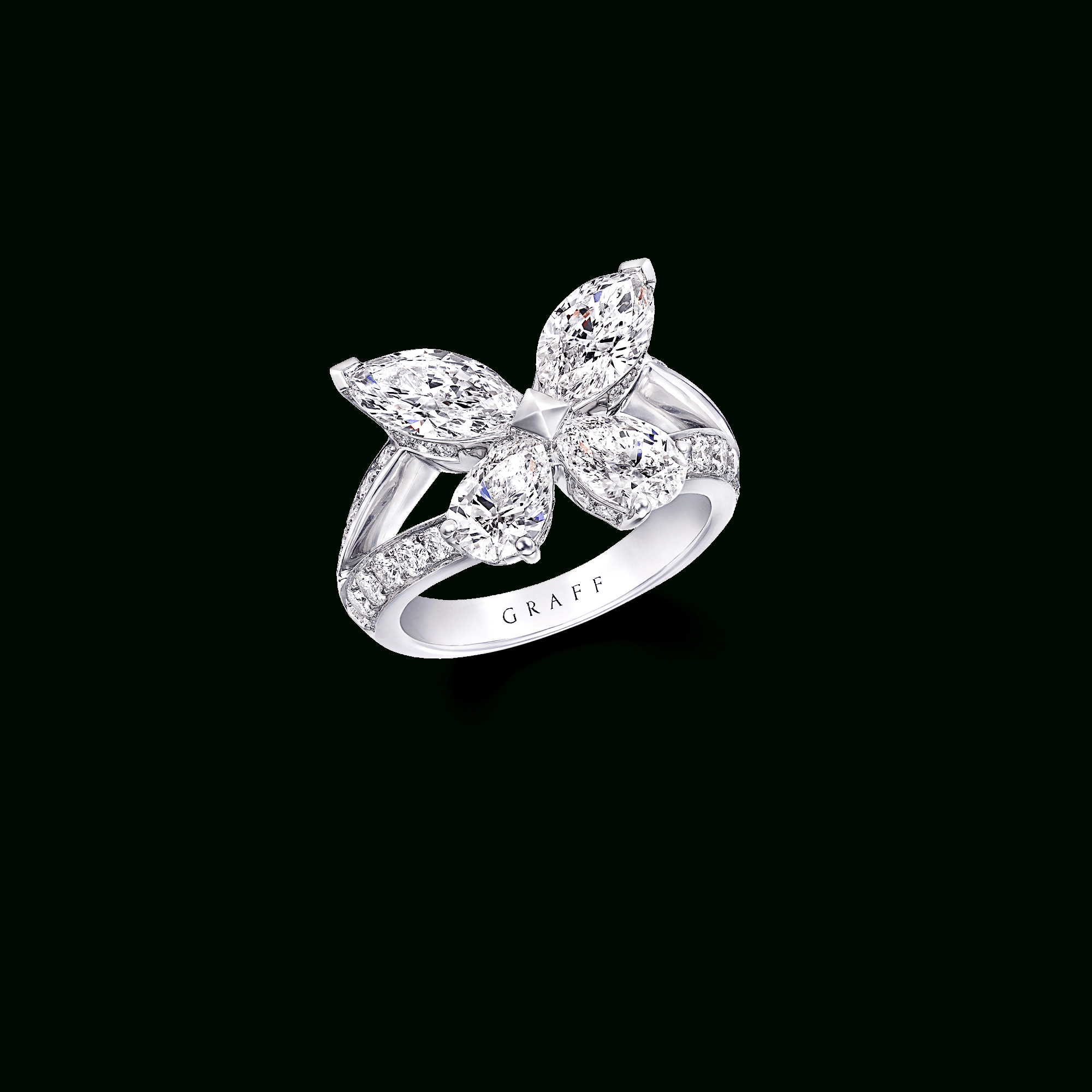 Classic Butterfly Ring, Diamond | Graff For Most Recent Sparkling Butterfly Open Rings (View 8 of 25)