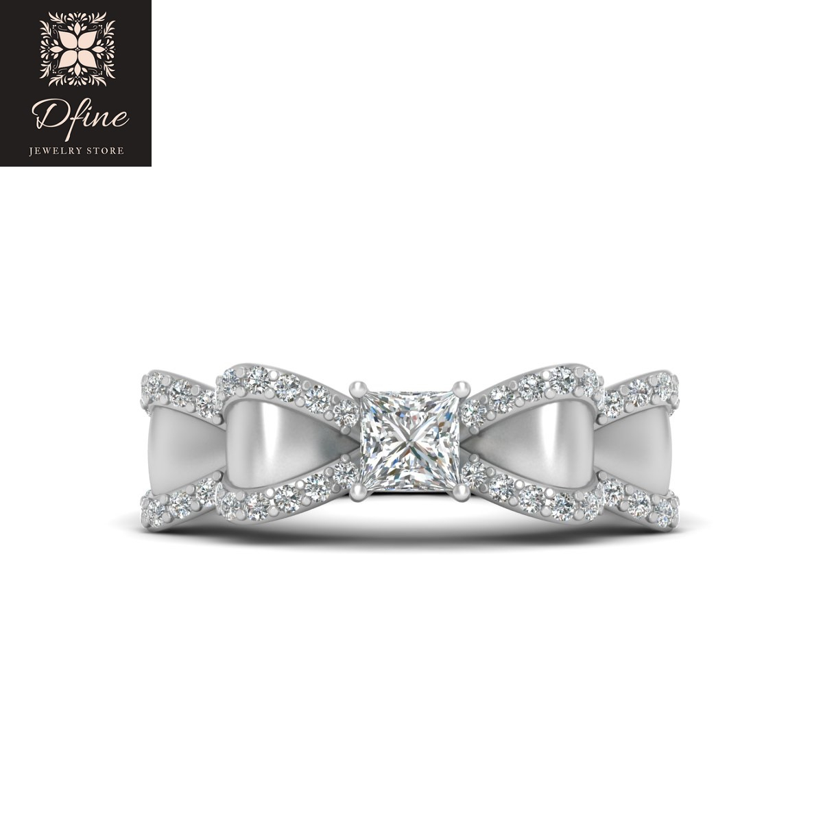 Classic Diamond Bow Ring In Most Up To Date Classic Bow Rings (Gallery 3 of 25)