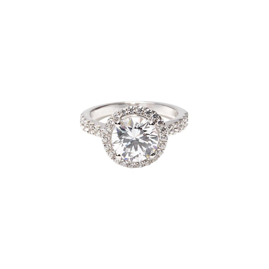 Classic Halo Ring Pertaining To Most Current Classic Sparkle Halo Rings (View 2 of 25)