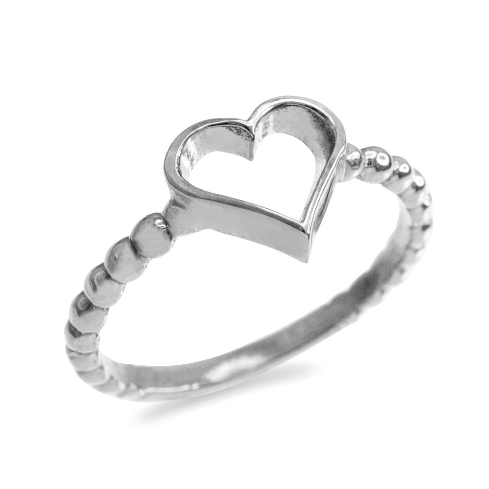 Classic Open Heart Twisted Rope Ring In Sterling Silver For Most Recent Polished Heart Open Rings (View 15 of 25)
