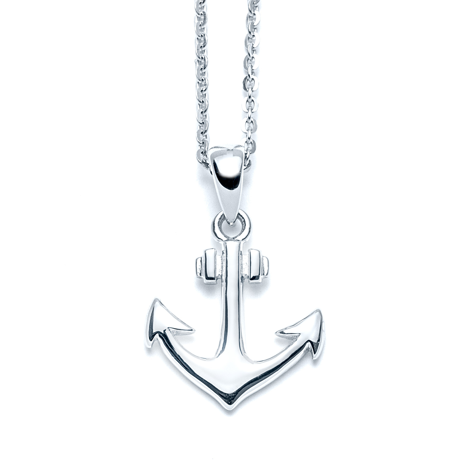 Classic Small Anchor Necklace Regarding Newest Classic Anchor Chain Necklaces (View 9 of 25)