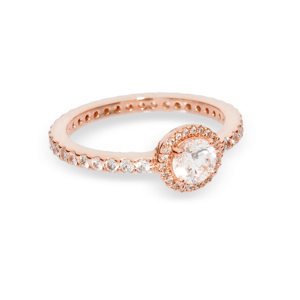 Classic Sparkle Halo Ring, Pandora Rose, Clear, Cubic Zirconia For Most Recent Classic Sparkle Halo Rings (View 3 of 25)