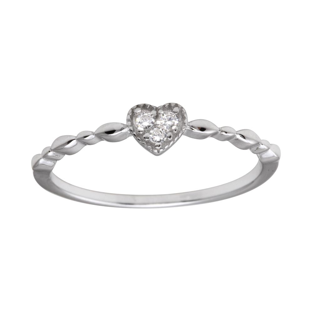 Featured Photo of Clear Heart Beaded Rings