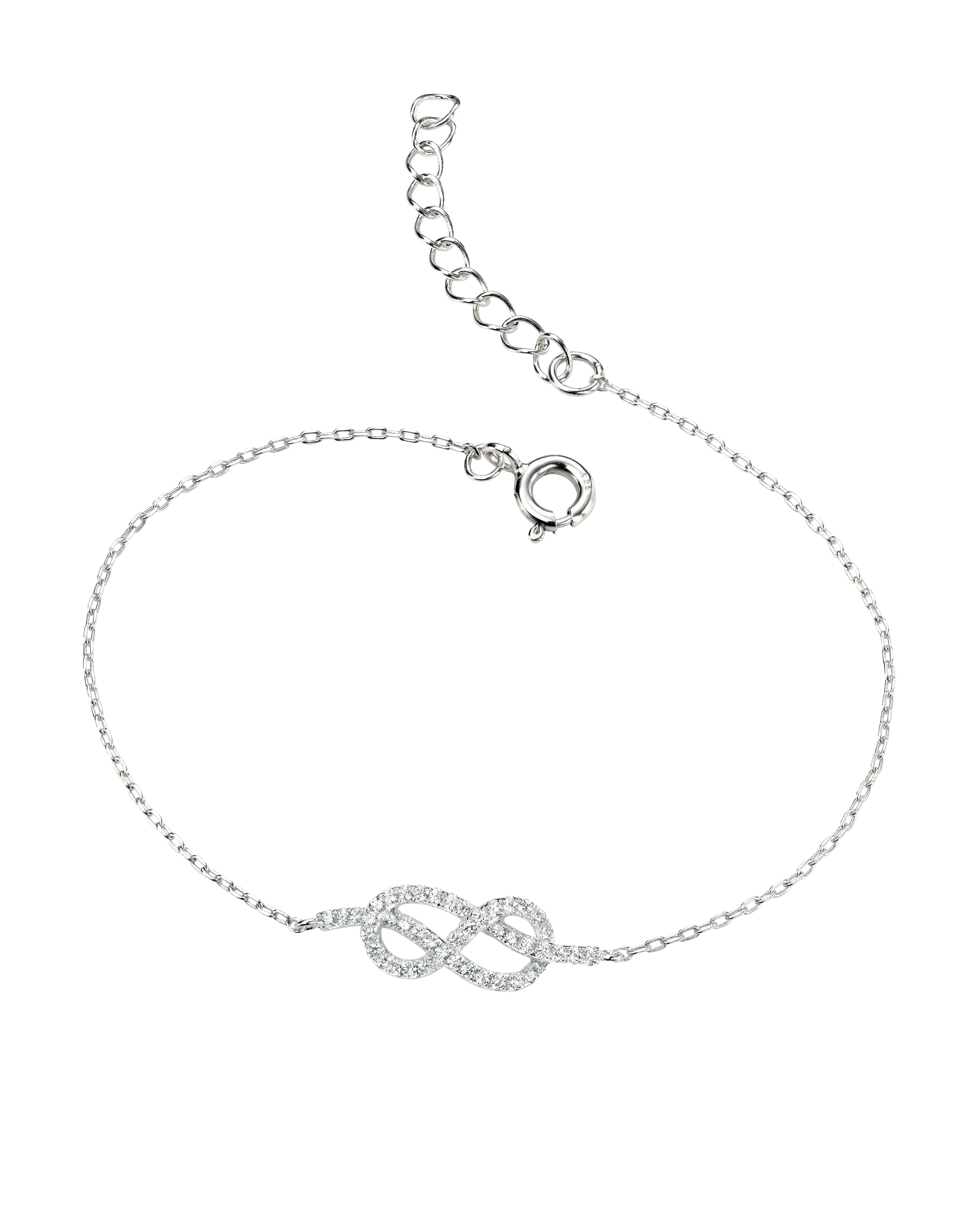 Clear Cz Infinity Bracelet 17+3Cm Throughout Recent Sparkling Infinity Locket Element Necklaces (Gallery 24 of 25)