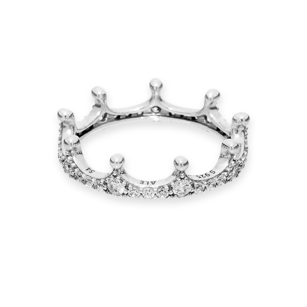 Clear Sparkling Crown Ring Throughout 2017 Clear Sparkling Crown Rings (Gallery 2 of 25)