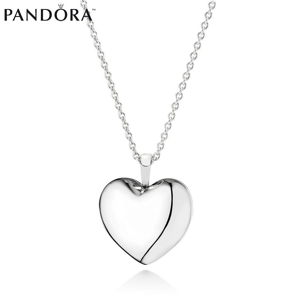Closeouts – Half Off Pandora Necklaces With Pendant Love Locket Throughout Newest Pandora Lockets Logo Dangle Charm Necklaces (View 17 of 25)