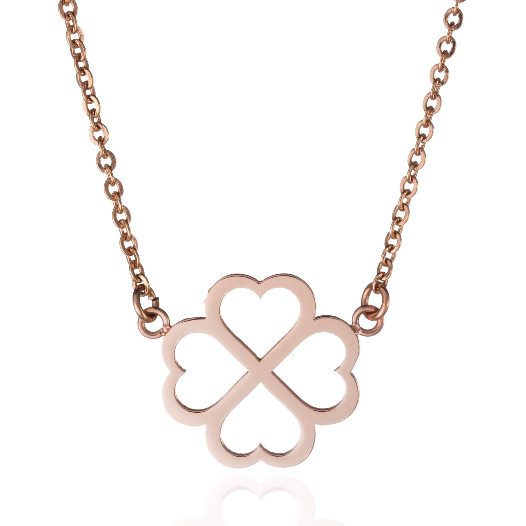 Clover Necklace, Rose Gold In Most Recent Sparkling Gift Locket Element Necklaces (Gallery 12 of 25)