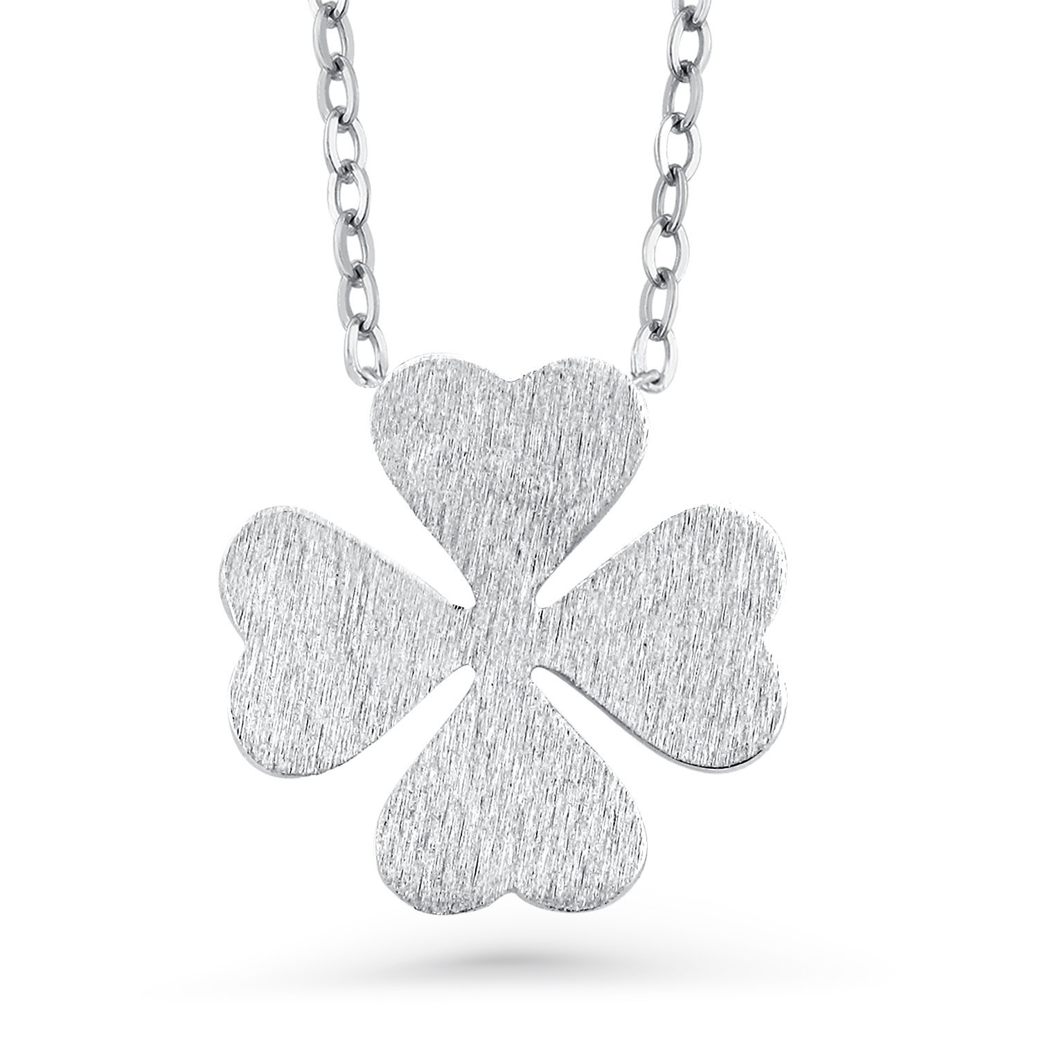Clover Pendant Necklace, 925 Sterling Silver Lucky Four Leaf Clover  Necklace, Clover Jewelry, Lucky Leaf Jewelry, Clover Lucky Charm With Most Up To Date Lucky Four Leaf Clover Dangle Charm Necklaces (View 8 of 25)
