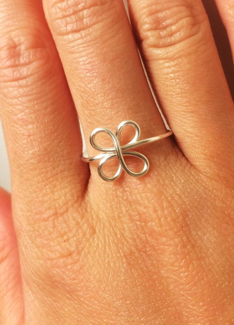 Clover Ring  Luck Of The Irish Four Leaf Clover Ring  St (View 4 of 25)
