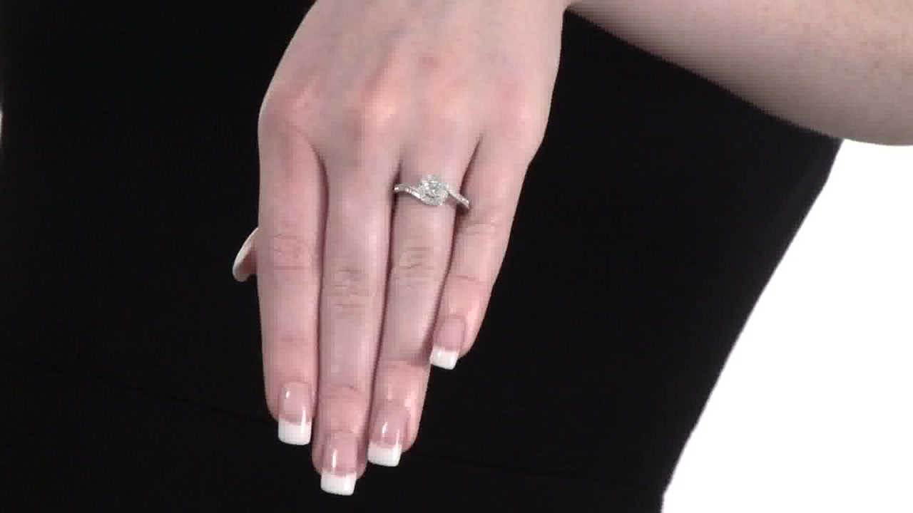 Composite Diamond Swirl Bypass Promise Ring In Sterling Silver 1/5 Ct (View 17 of 25)