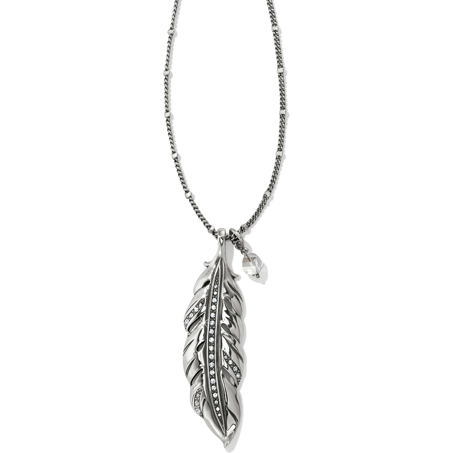 Contempo Ice Feather Convertible Reversible Necklace With Regard To Most Popular Shimmering Feather Pendant Necklaces (View 4 of 25)