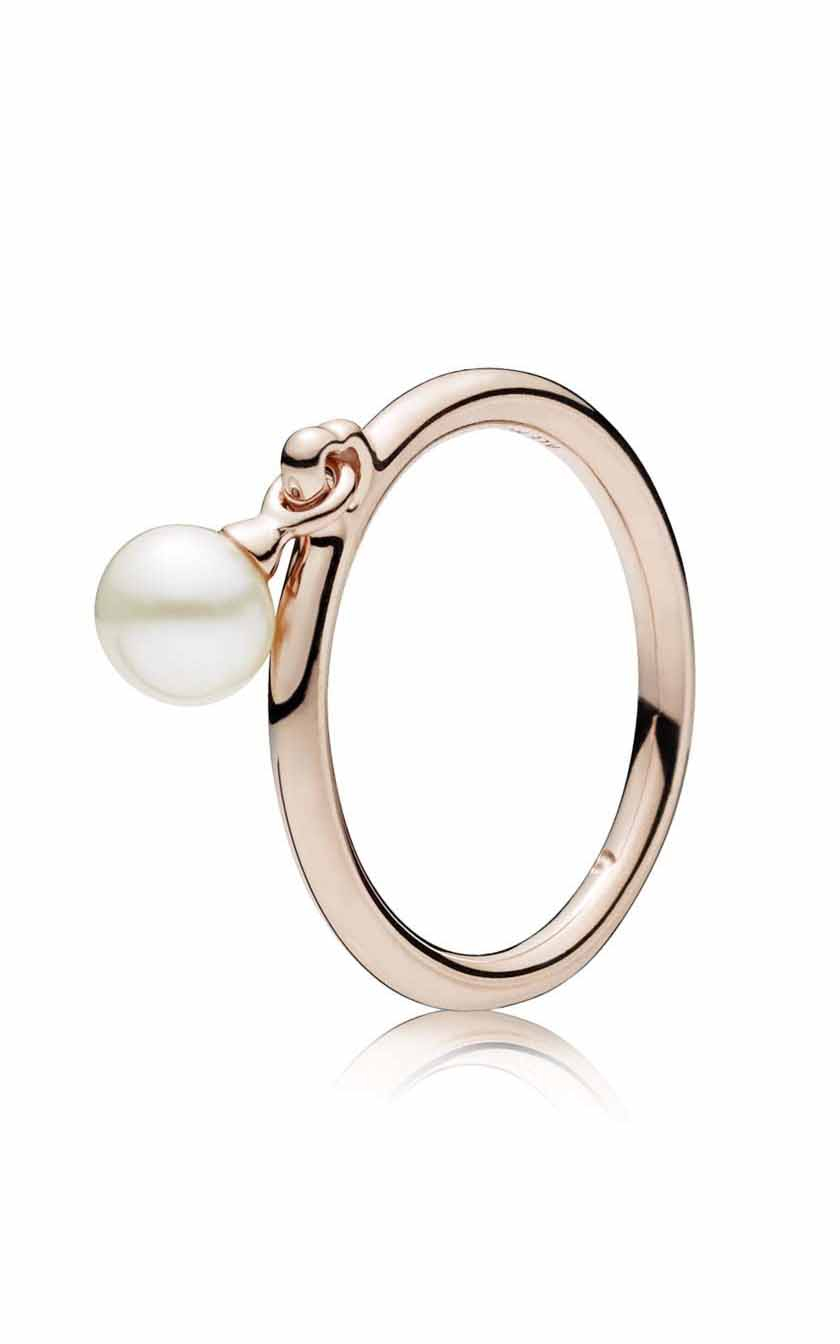 Contemporary Pearl Ring Pandora Rose™ & Freshwater Cultured 187525P 48 Pertaining To Recent Dangling Freshwater Cultured Pearl Rings (View 4 of 25)