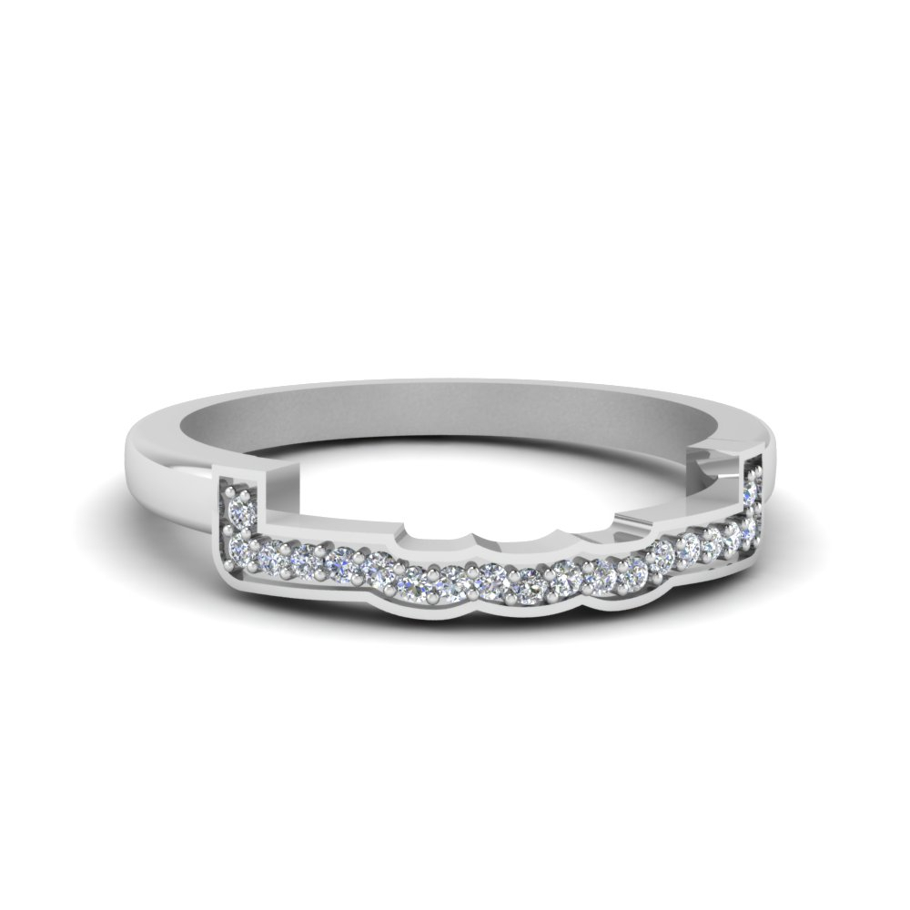 Featured Photo of Diamond Contour Anniversary Bands In White Gold