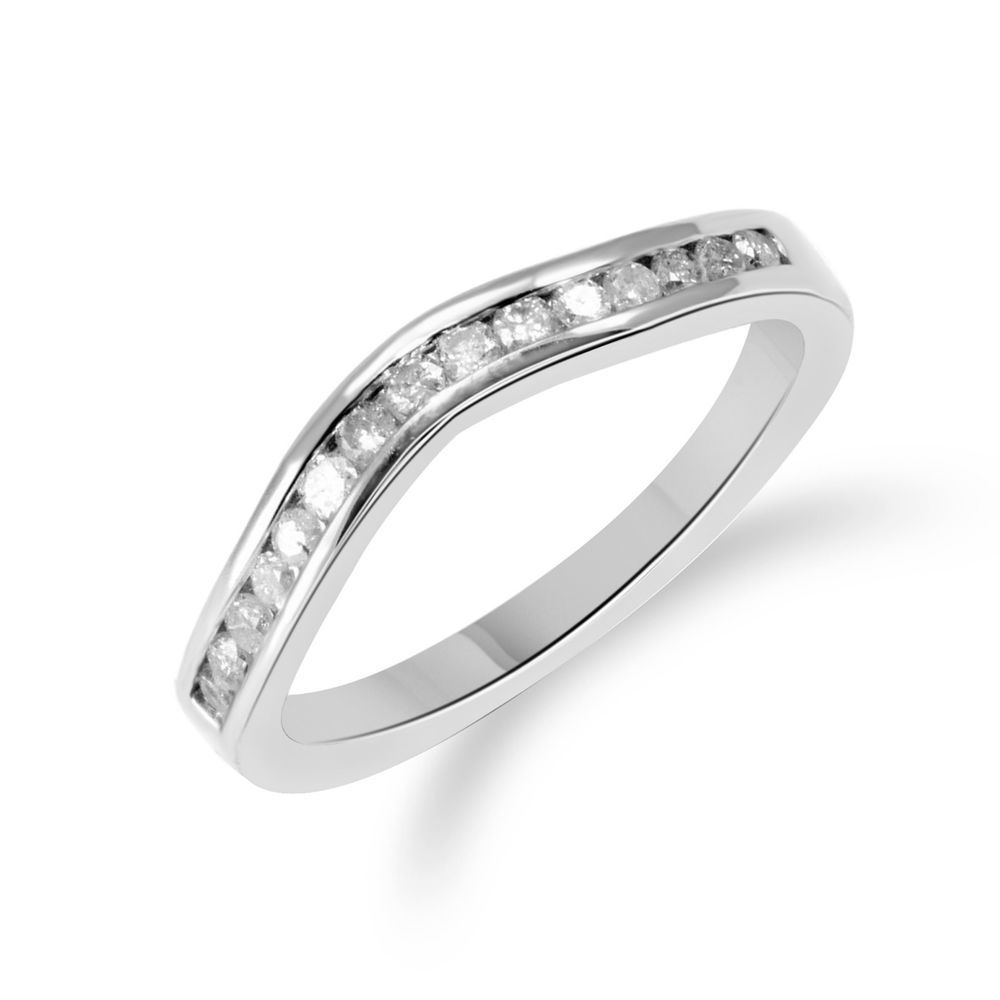 Contour Wedding Band Ring (View 10 of 25)