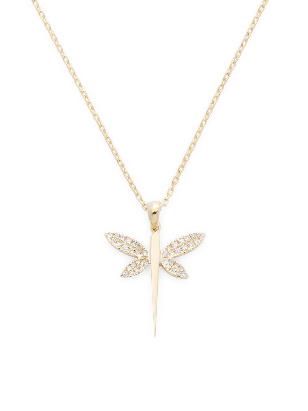 Crcasa Reale Diamond Dragonfly Pendant Necklace In Metallic – Lyst For 2020 Sparkling Dragonfly Y  Necklaces (Gallery 6 of 25)