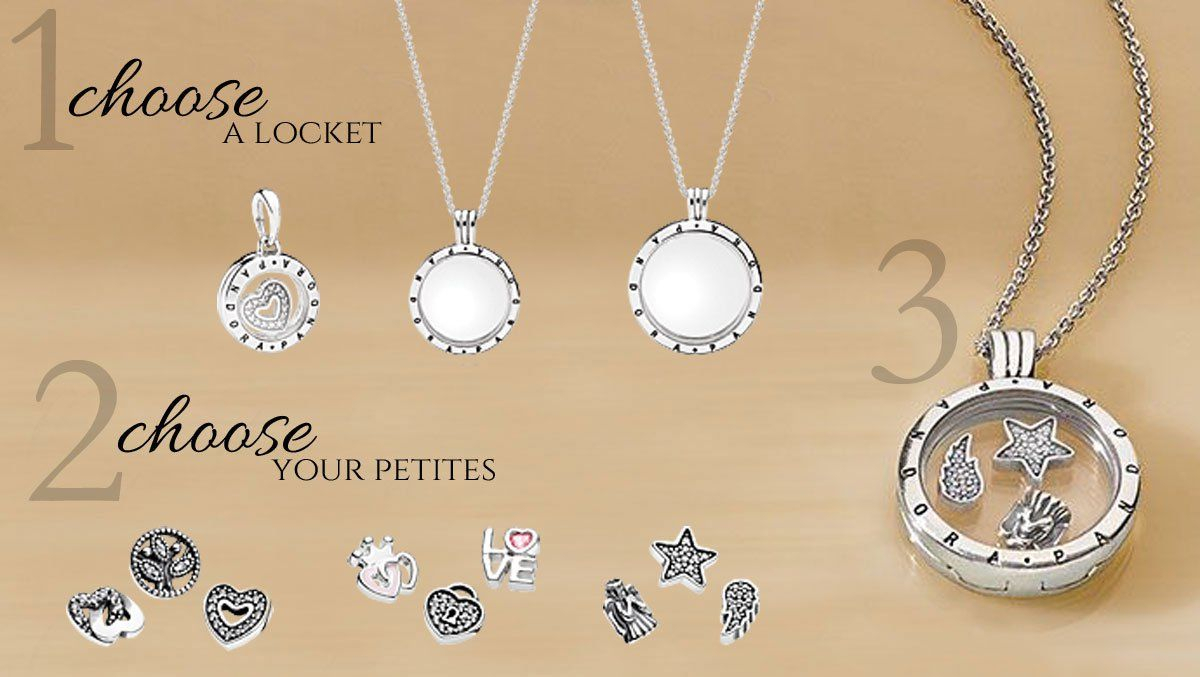 Creating A Pandora Petite Memories Locket At Www.becharming In Most Recent Pandora Logo Pavé Heart Locket Element Necklaces (Gallery 6 of 25)