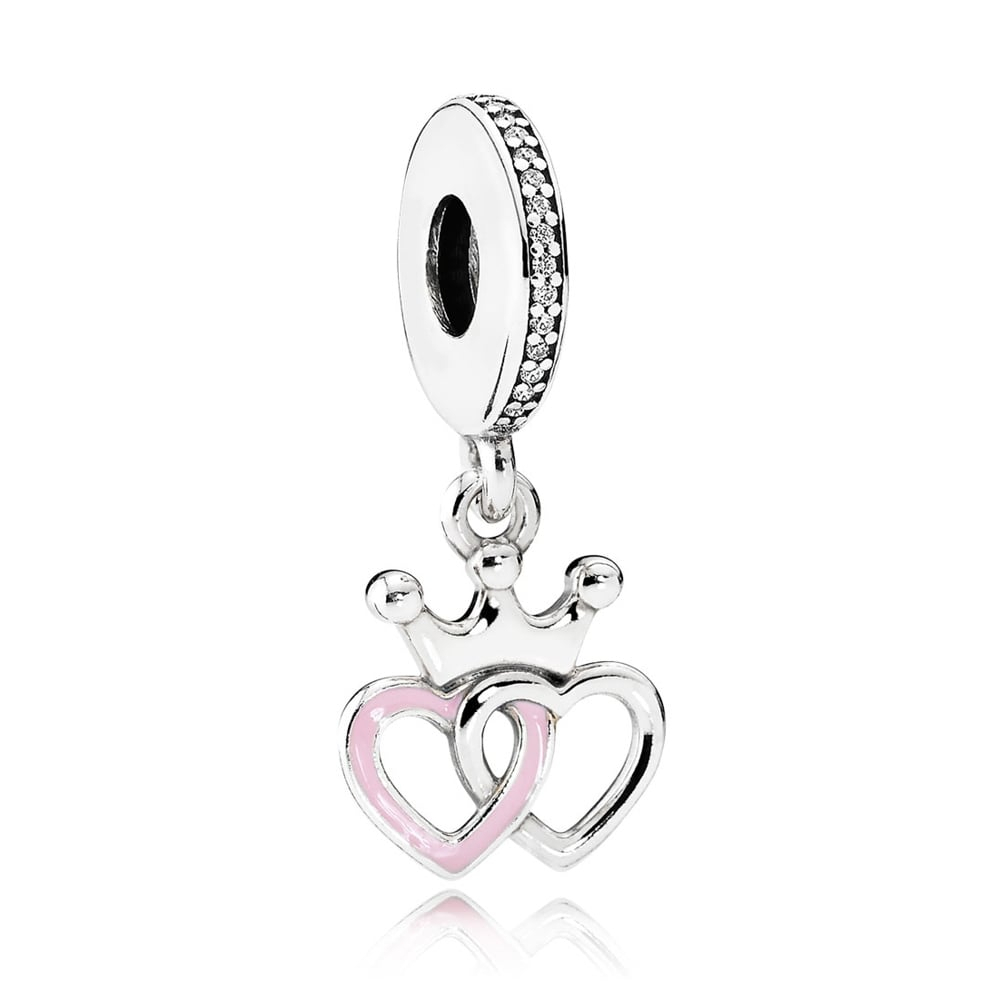 Crowned Hearts Pendant Charm 791963cz Pertaining To 2020 Crown & Interwined Hearts Pendant Necklaces (View 2 of 25)