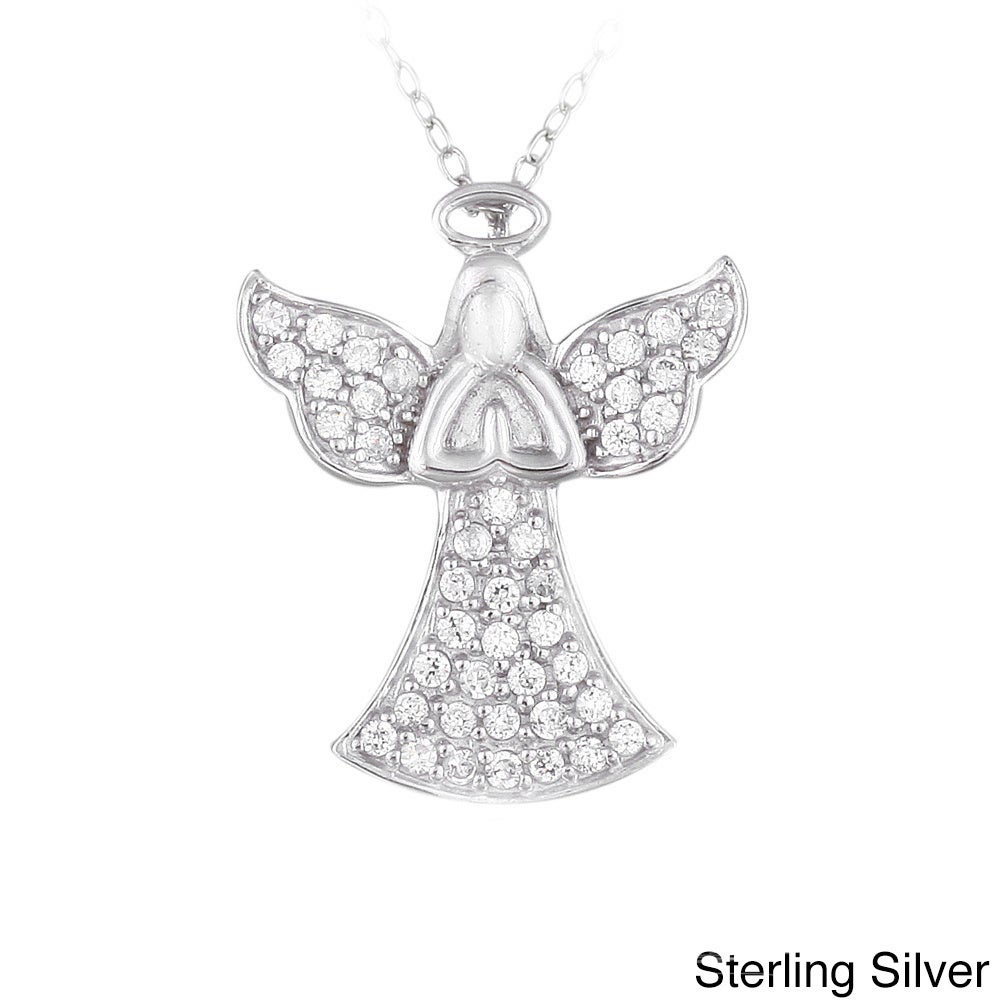 Crystal Ice Sterling Silver And Crystal Praying Angel Necklace With  Swarovski Elements In 2019 Pavé Angel Wing Locket Element Necklaces (Gallery 7 of 25)