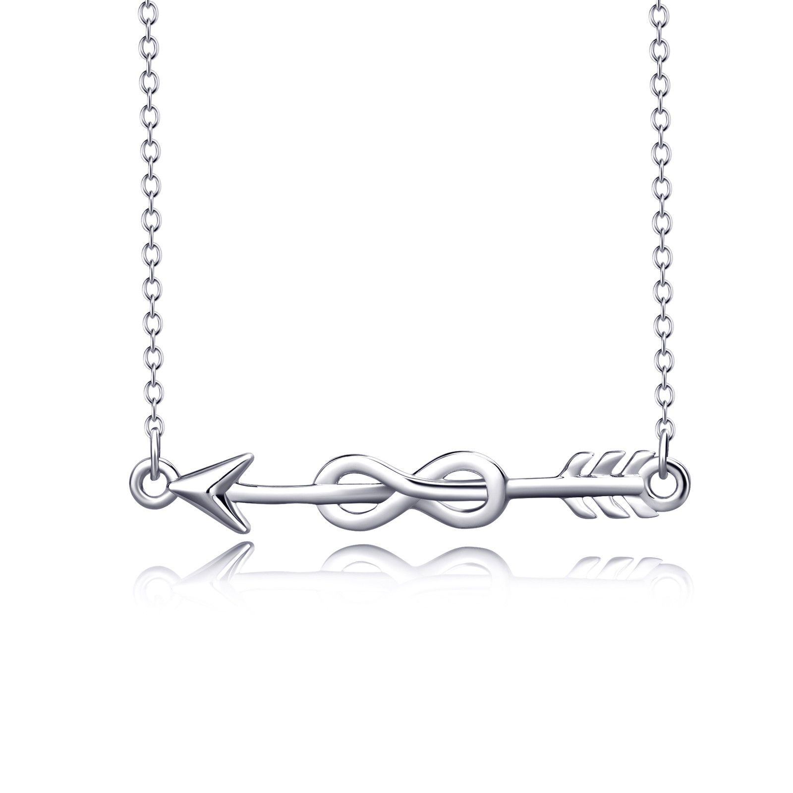 Cupid Arrow Infinity Love Knot Pendant Sterling Silver Necklace Regarding 2019 Arrow Of Cupid Dangle Charm Necklaces (View 24 of 25)
