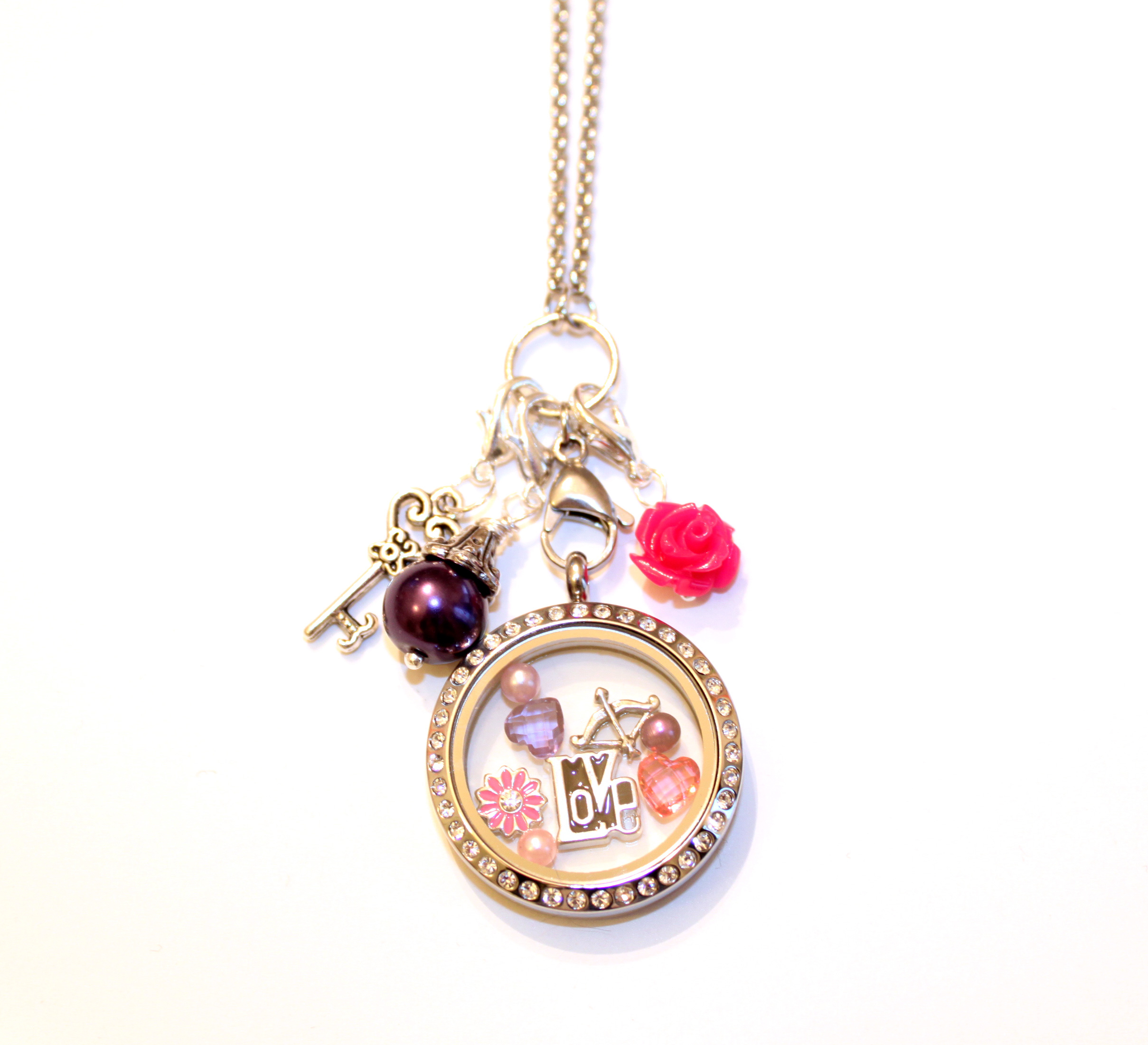 Cupid's Arrow Valentine's Day Floating Locket And Charm Collection Throughout Most Recent Arrow Of Cupid Dangle Charm Necklaces (View 8 of 25)
