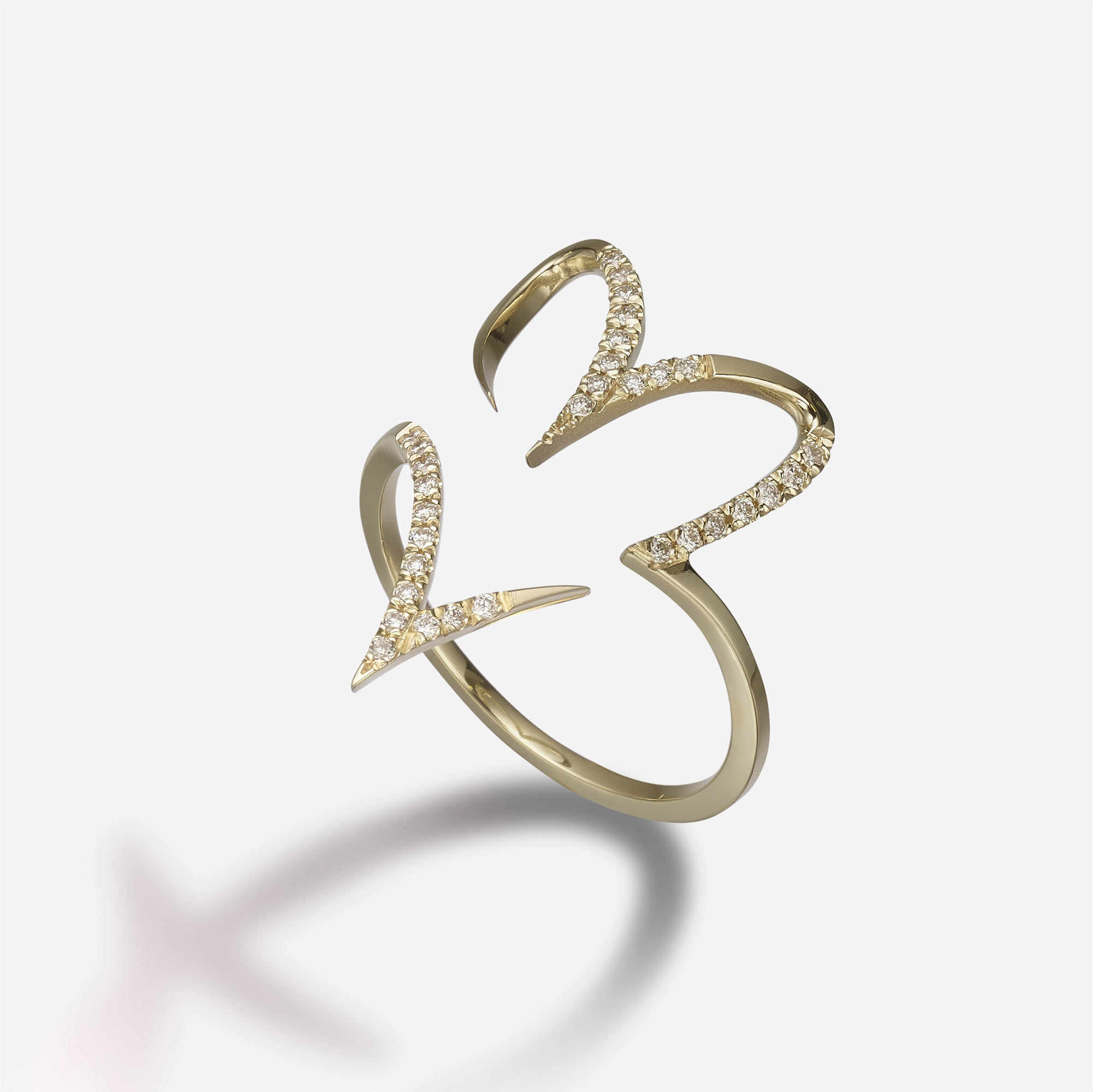Cursive Heart | Pavé Diamonds Inside Most Up To Date Pavé Hearts Band Rings (View 5 of 25)