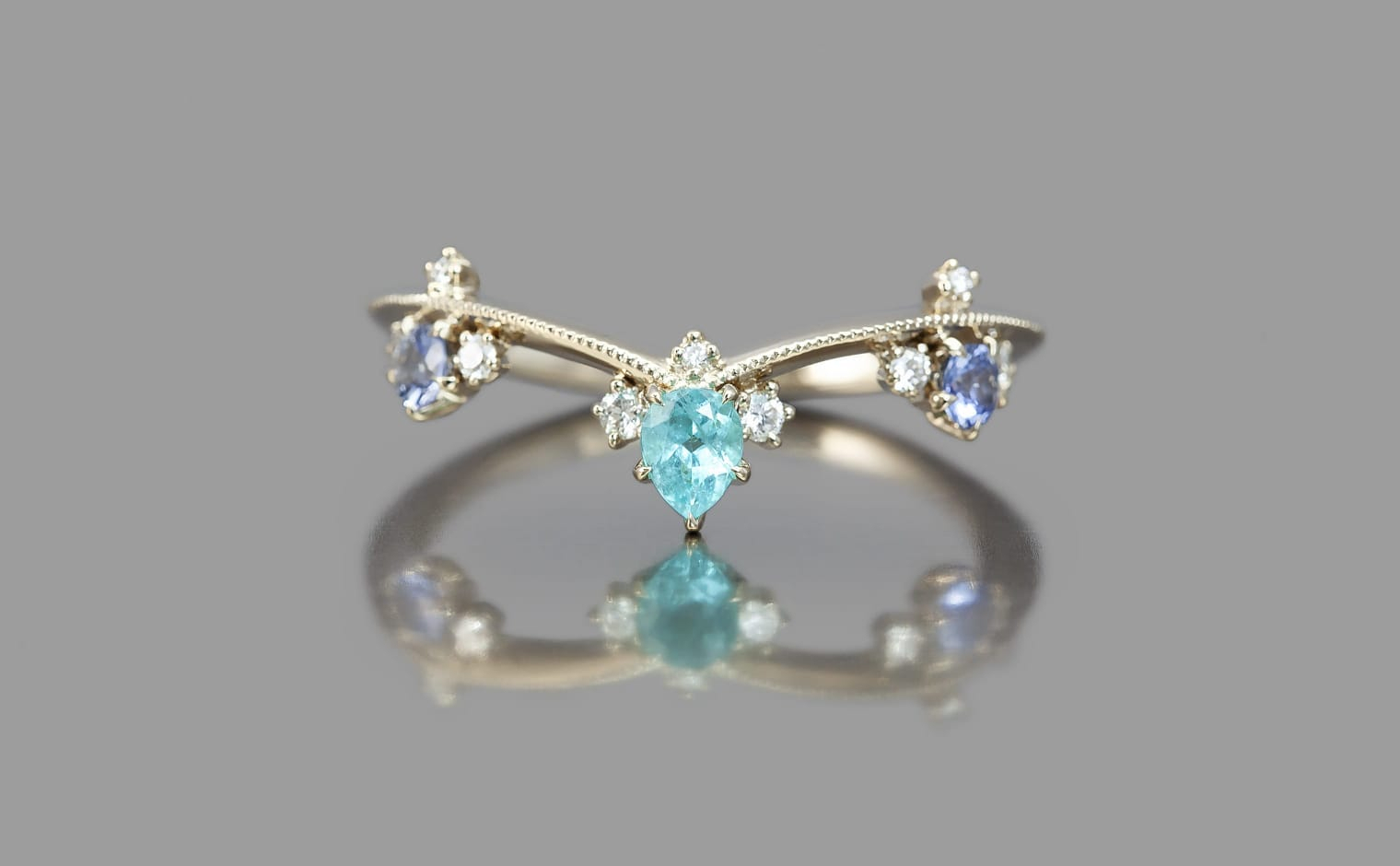 Featured Photo of Blue Sparkling Crown Rings