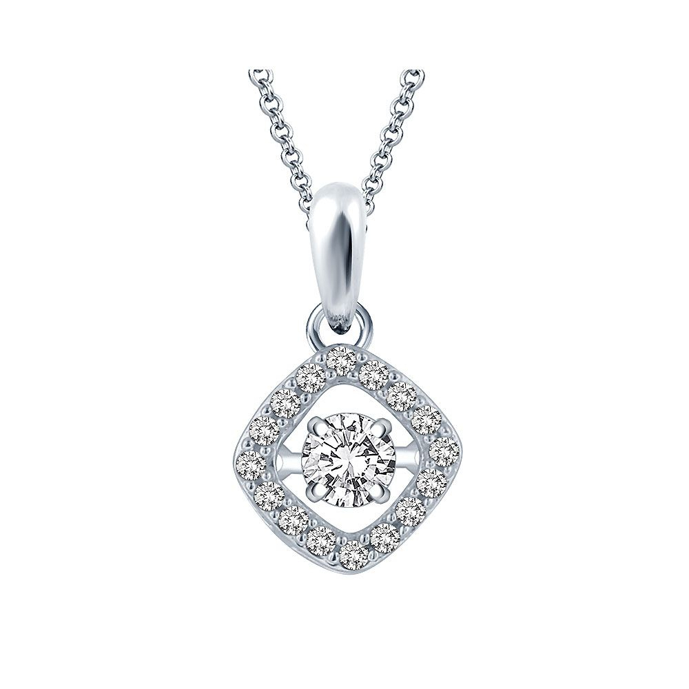 Cushion Dazzling Diamond Necklace 0.25Ct Within Current Dazzling Locket Pendant Necklaces (Gallery 15 of 25)