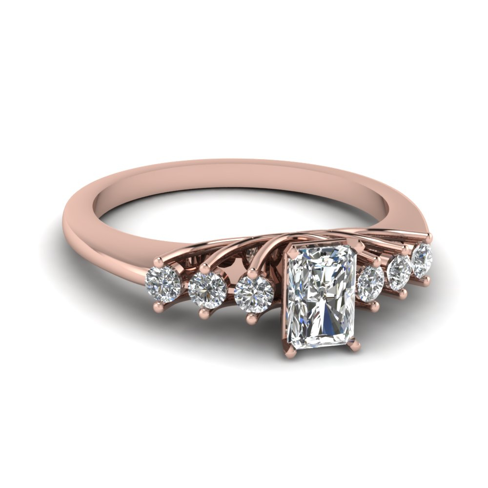 """Cushion Diamond Engagement Ring Sale In 14K Yellow Gold Regarding Recent Diamond Seven Stone """"x"""" Anniversary Bands In Sterling Silver And Rose Gold (View 5 of 25)"""