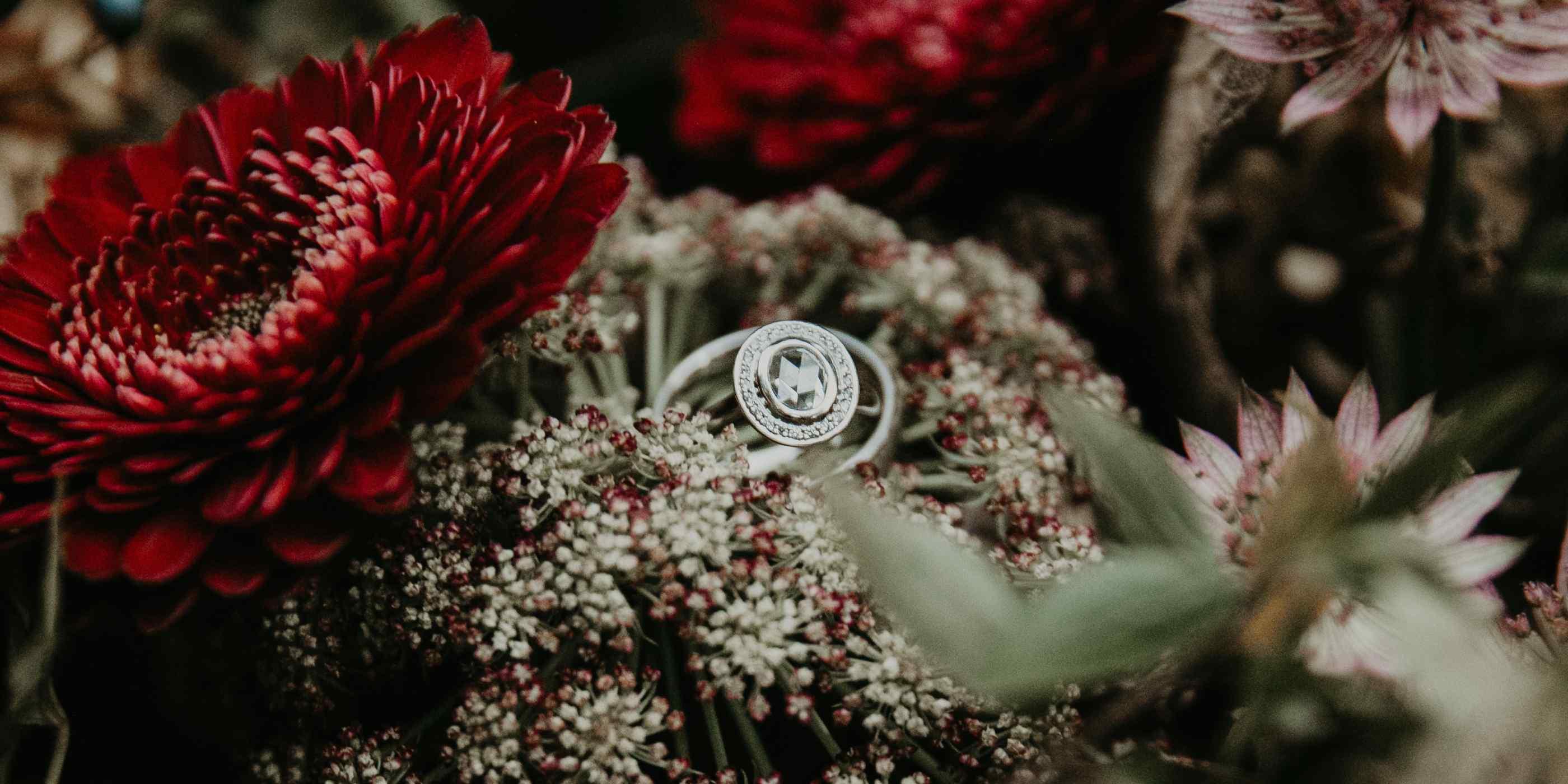 Custom Nature Inspired Engagement Rings | Pavé Fine Jewelry Design Regarding Newest Pavé Flower Rings (Gallery 21 of 25)