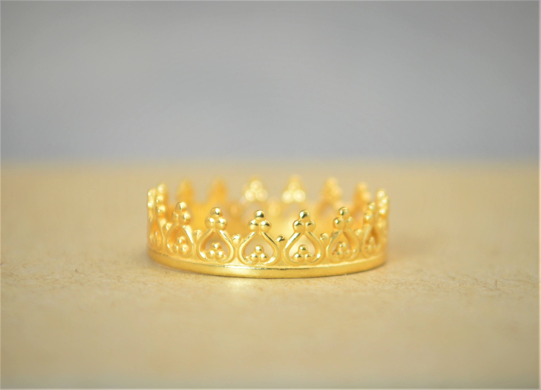Dainty Gold Crown Ring, Gold Princess Crown Ring, Gold Princess Ring, Gold Tiara Ring, Gold Queen Ring, Gold Ring, Gold Crown Ring, Gold Within Most Recent Princess Tiara Crown Rings (View 15 of 25)