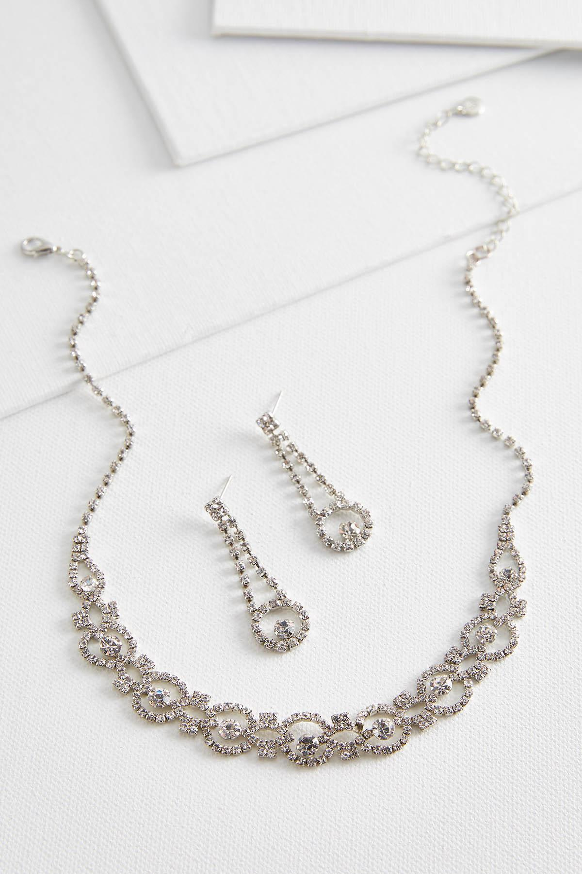 Dainty Stone Necklace And Earring Set For Current Sparkling Stones Pendant Necklaces (Gallery 20 of 25)