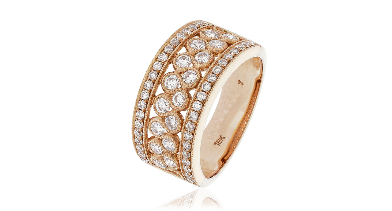 Daisy Bird – Diamond Information Centre, Online Information With Most Recently Released Enhanced Cognac Diamond Vintage Style Anniversary Bands In Rose Gold (Gallery 23 of 25)