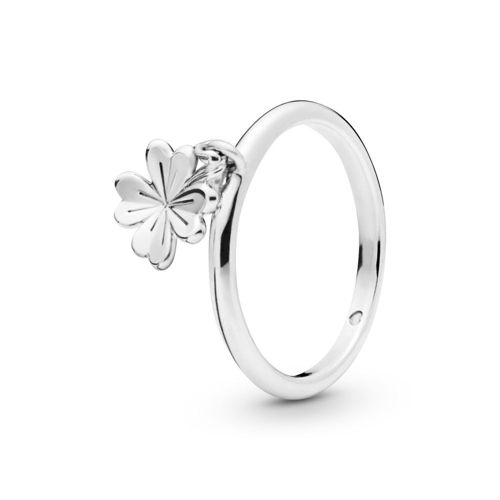 Featured Photo of Dangling Four Leaf Clover Rings