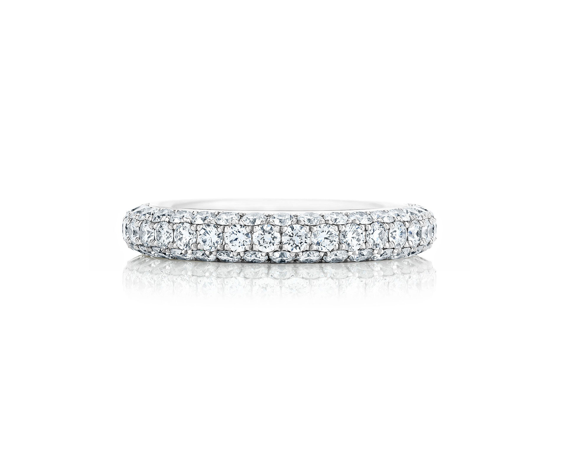 Db Darling Half Pavé Eternity Band (View 5 of 25)