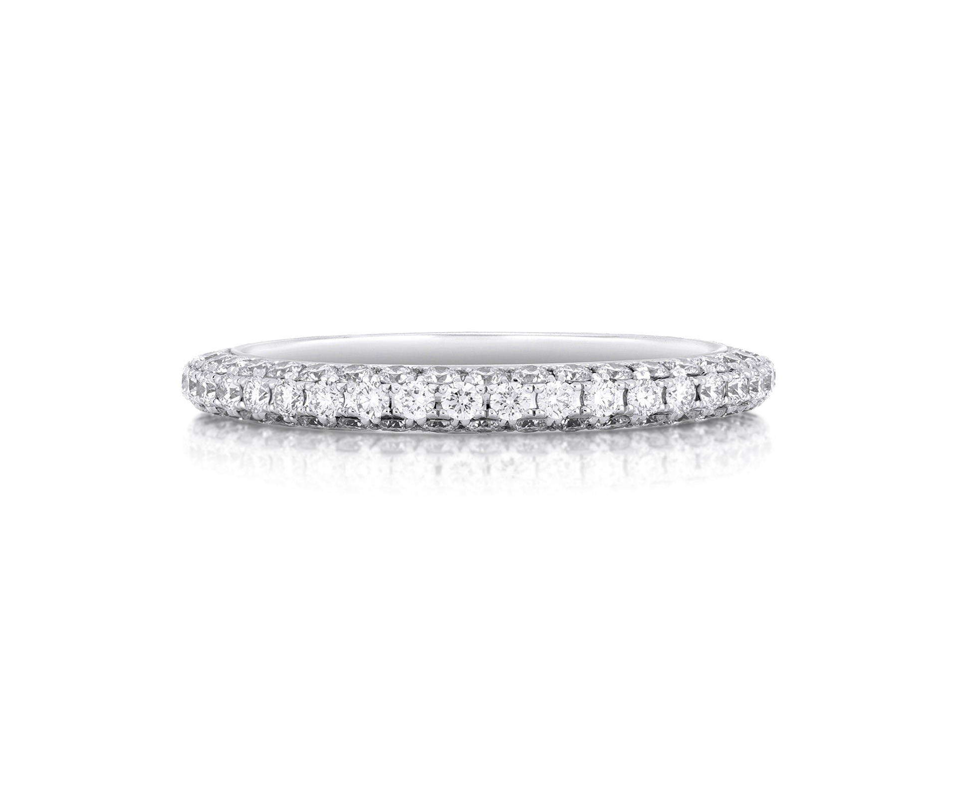 Db Darling Half Pavé Eternity Band With Regard To Newest Elegant Pavé Band Rings (View 3 of 25)