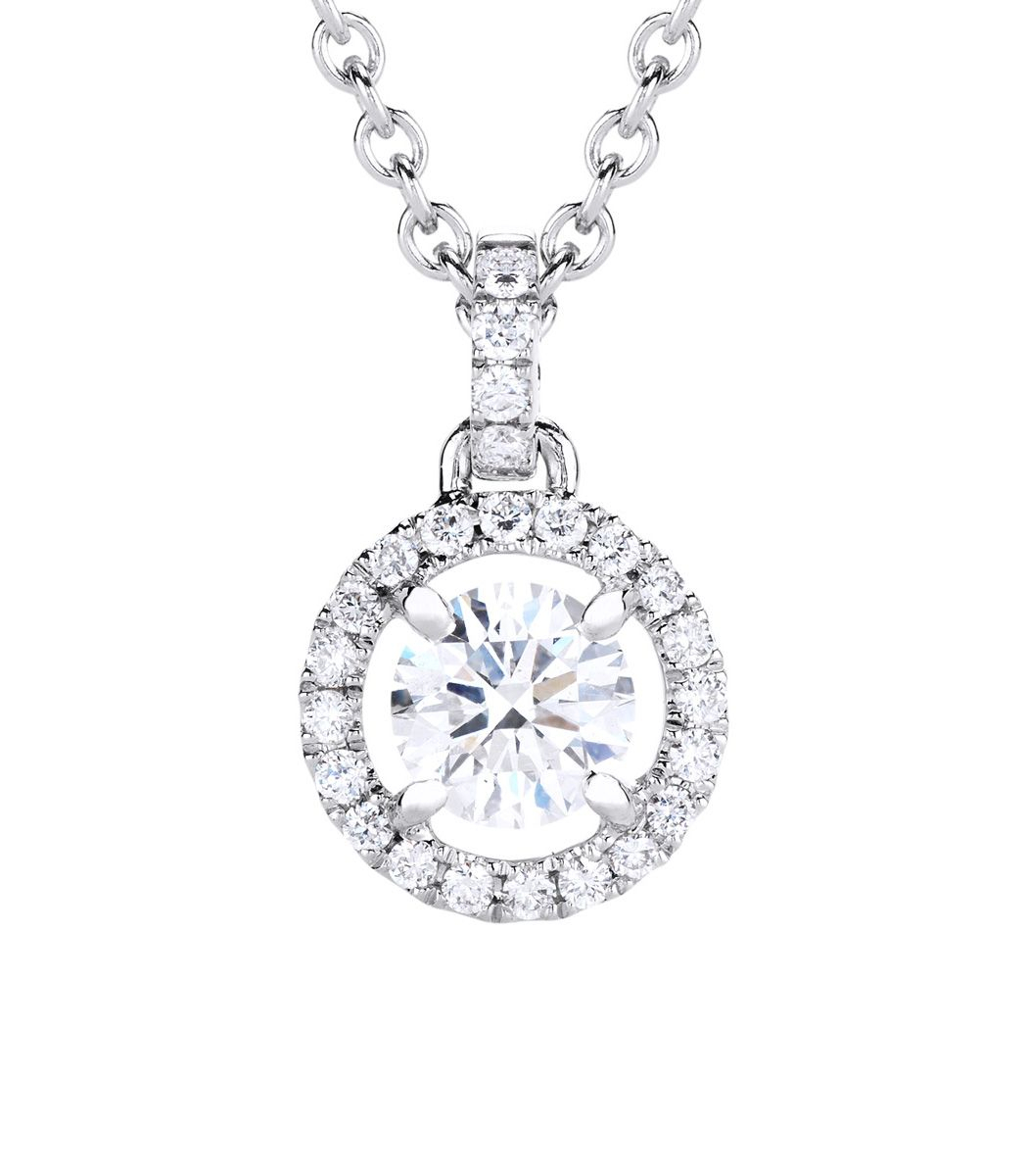 De Beers Aura Pendant In Celebration Of Its Beauty, Purity And Inside Most Up To Date Round Sparkle Halo Pendant Necklaces (View 22 of 25)