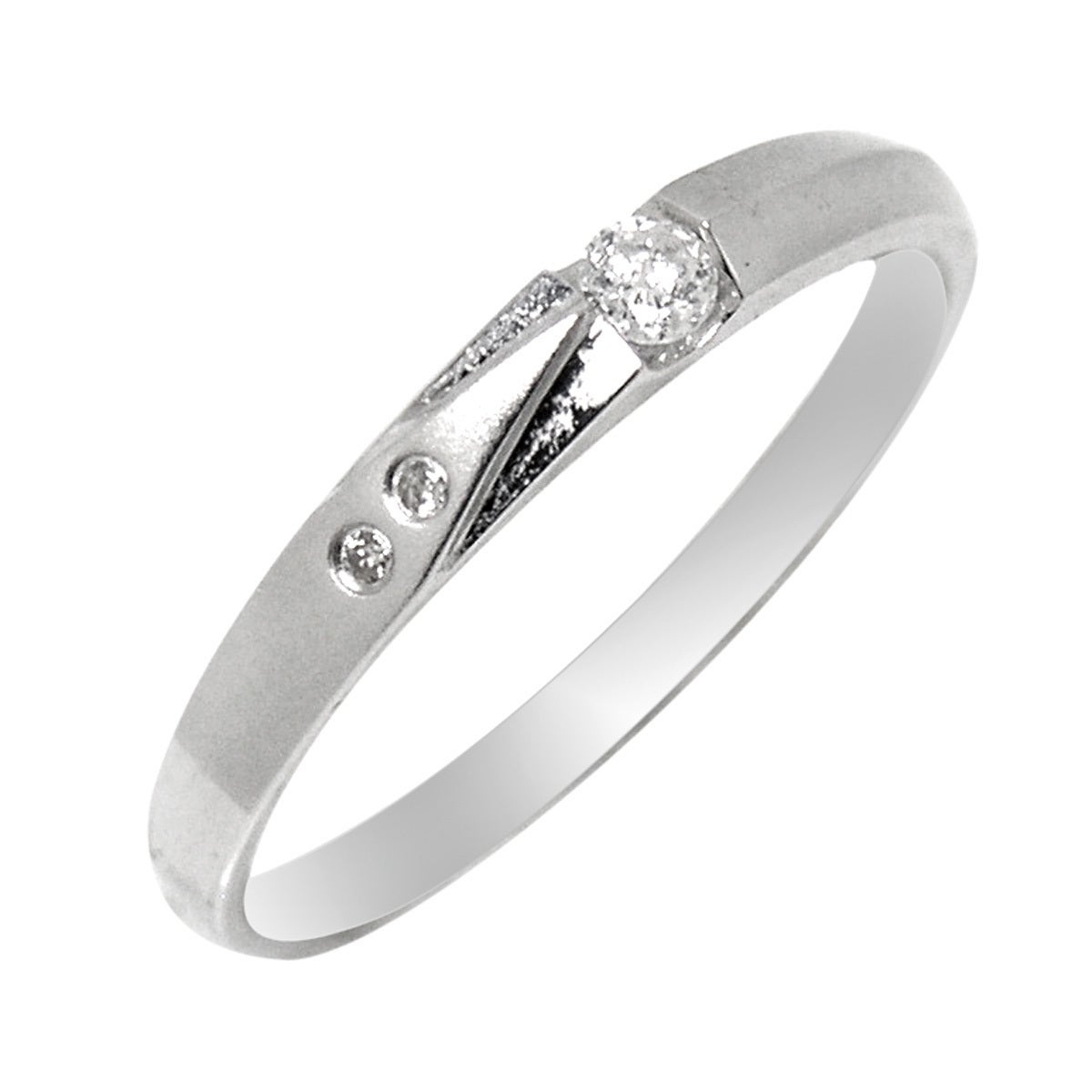 De Buman 18K White Gold Channel Set Diamond Accent Band Ring Regarding Latest Diamond Accent Channel Anniversary Bands In White Gold (View 15 of 25)