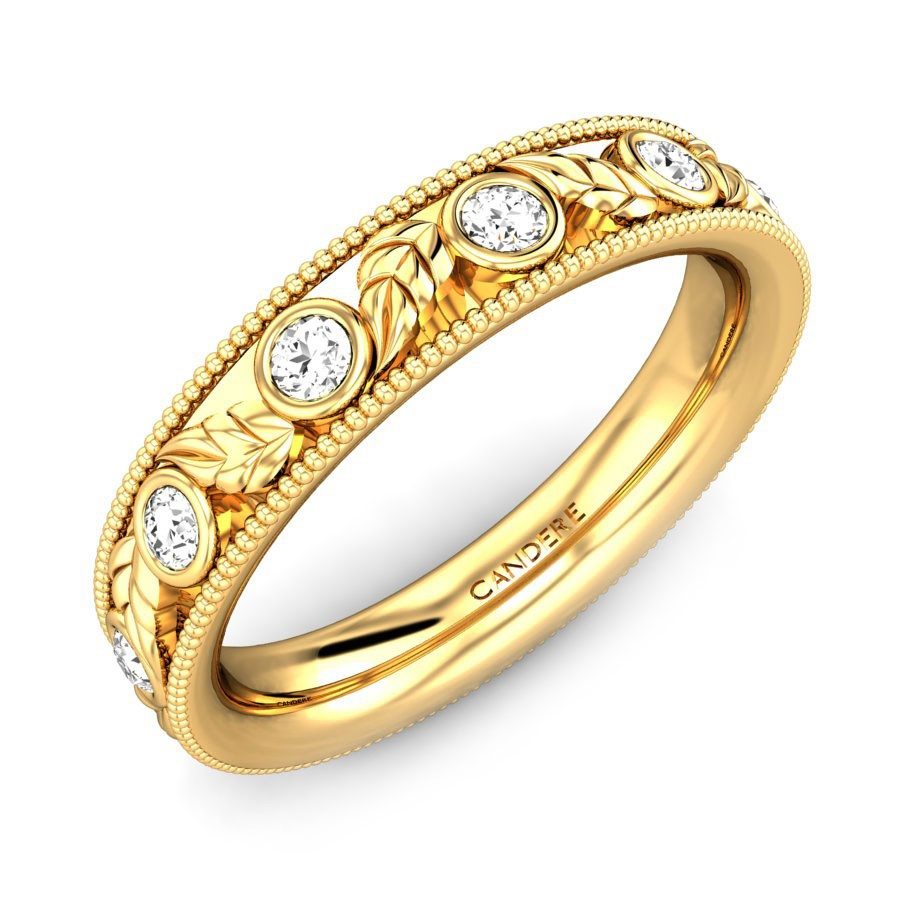Deccan Diamond Wedding Ring Regarding Most Popular Diamond Frame Anniversary Bands In Gold (View 7 of 25)