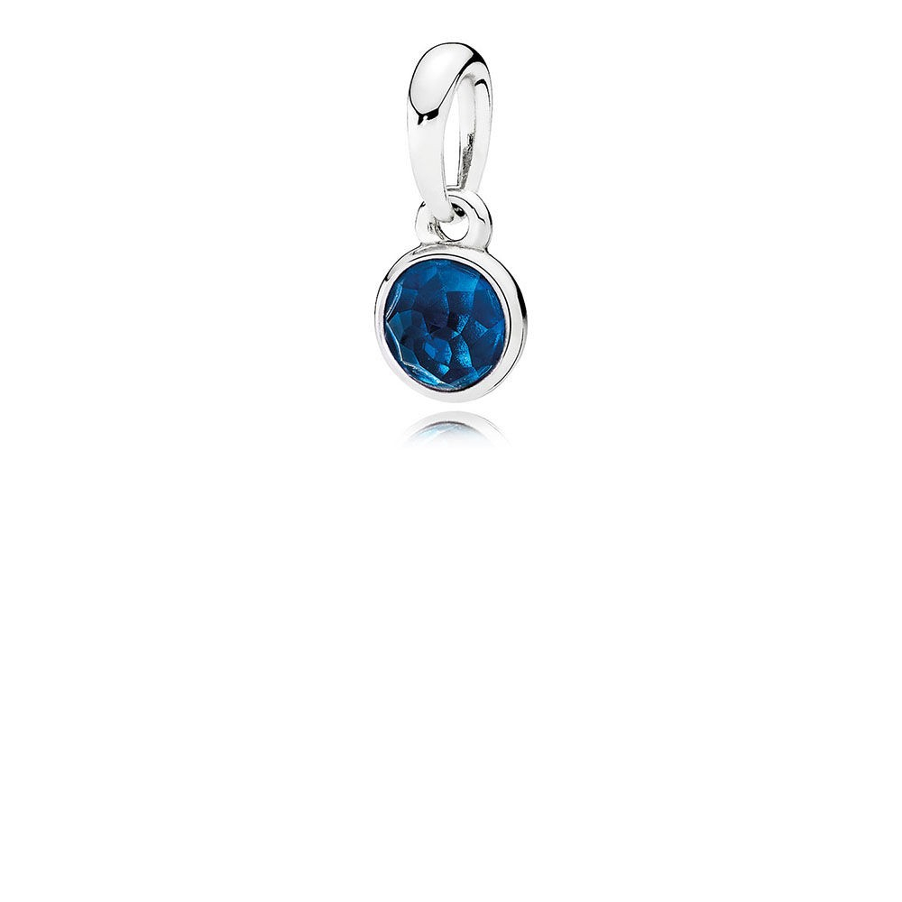 Featured Photo of London Blue Crystal December Droplet Pendant Necklaces