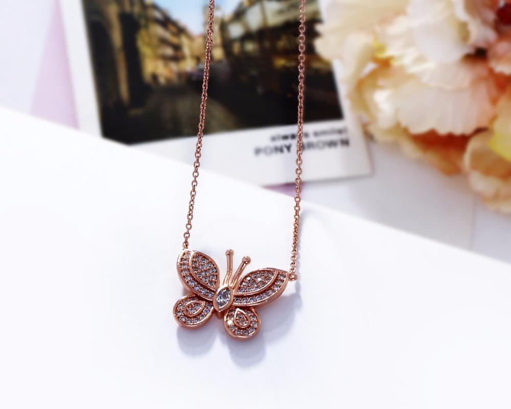 Deczign All Seasons Sweet Look Butterfly Shape Small Pendant Cute Within Best And Newest Pink Pavé Butterfly Collier Necklaces (View 7 of 25)