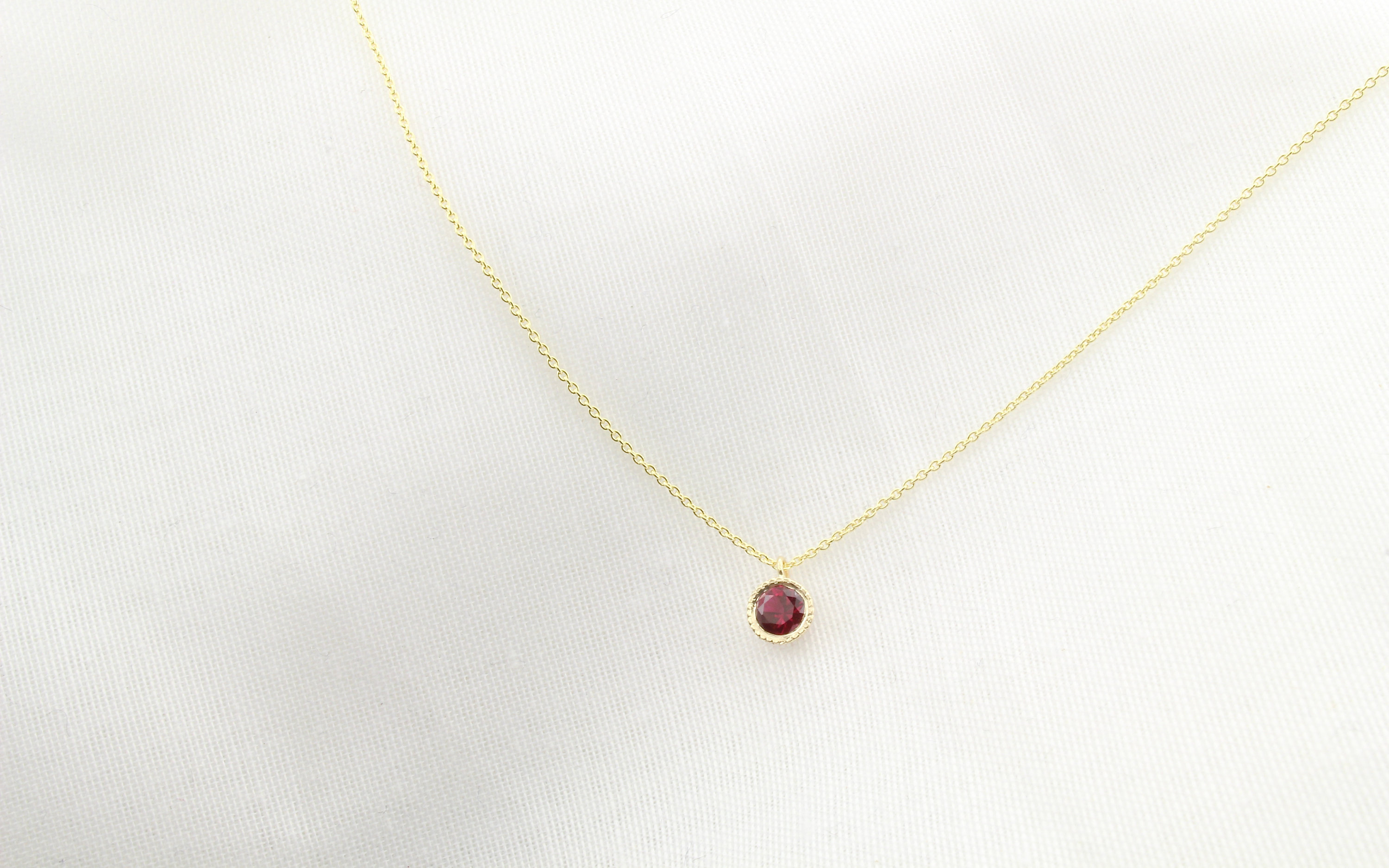 Delicate Ruby Gold Necklace, Solid Gold Necklace, 14K Dainty Droplet  Necklace, 14K Gold Necklace, Graduation Gift, Brookemicheledesigns Pertaining To Most Up To Date November Droplet Pendant Necklaces (Gallery 16 of 25)