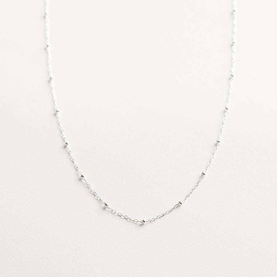 Delicate Sterling Silver Chain Necklace With 2020 Silver Chain Necklaces (Gallery 8 of 25)