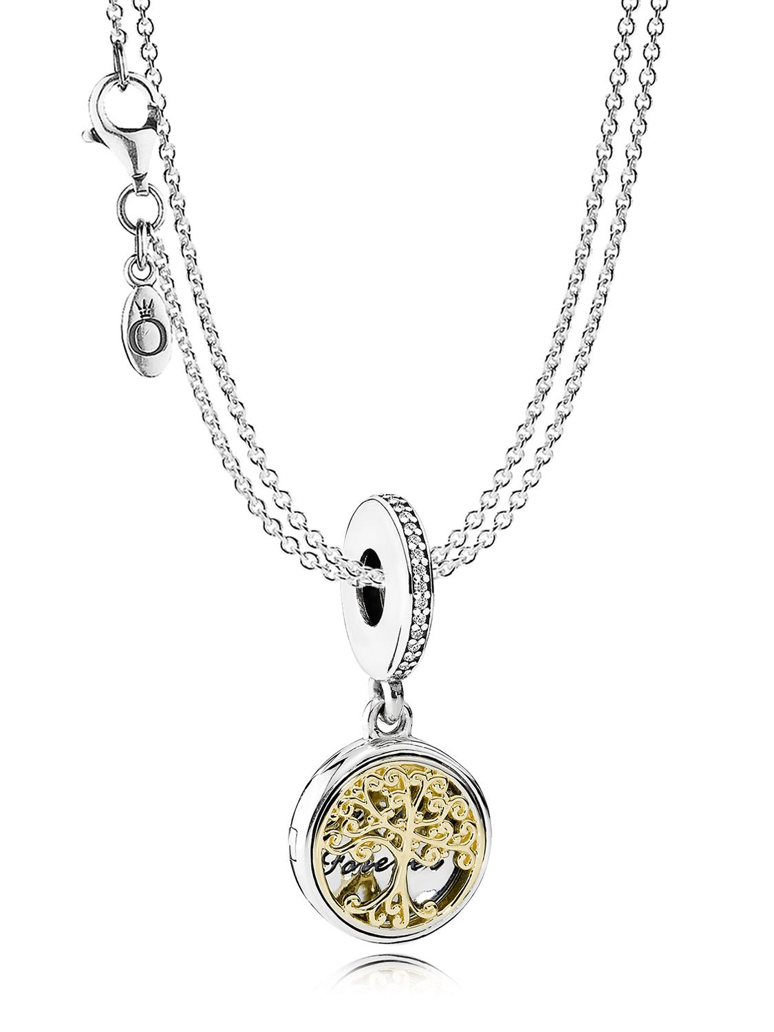 Denmark Pandora Family Necklace 4B9A9 56Caf In Recent Sparkling Family Tree Necklaces (View 3 of 25)