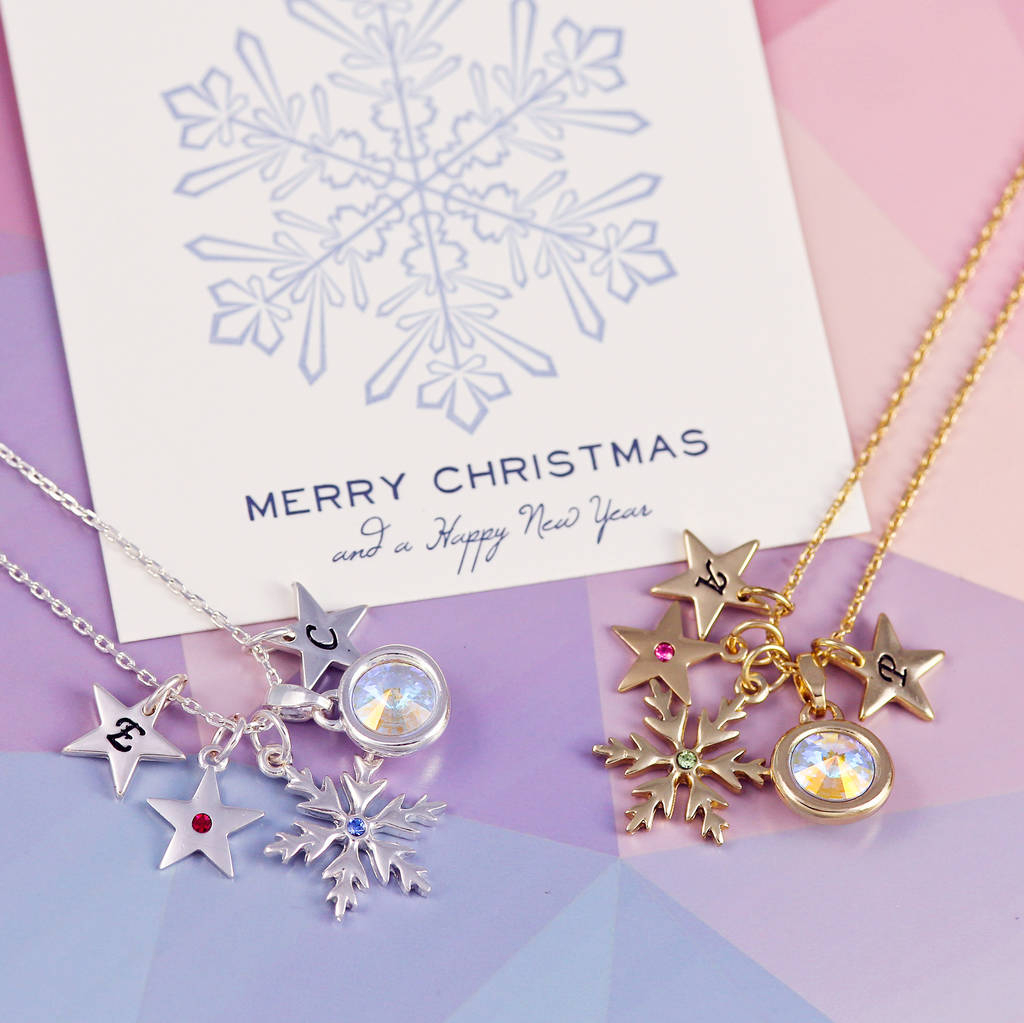 Design Your Own Birthstone Snowflake Necklace Within Current Purple February Birthstone Locket Element Necklaces (View 9 of 25)
